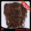 "noble products common price 14 inch brown hair  weave lace closure in stock 10""x4"" lace frontal highlight color #27"