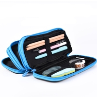 high grade pen bag  3 zipper large compacity pen pouches  school office gifts