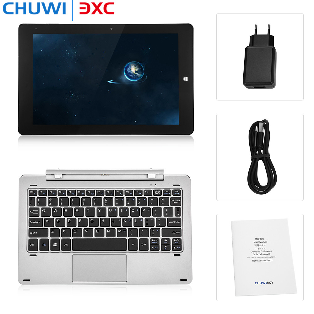CHUWI Hi10 Pro 2 in 1 Ultrabook Tablets Keyboard Windows10 &Android5.1 Tablet PC 4G 64G Intel Z8350 Quad Core Bluetooth HDMI