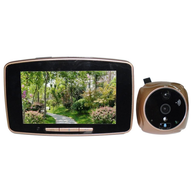 все цены на  GSM Mobile Door Peephole Viewer Camera with 5.0 Inch TFT-LCD Digital Wide Angle Touch Screen Monitor With Multi-Language Voice  онлайн