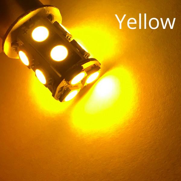 1156 BA15S 1157 BAY15D P21W BA15D 13Led 5050 Автомобильные светодиодные поворотные парковочные сигнальные огни, тормозные задние лампы, автомобильные задние лампы заднего хода, DC 12 В - Испускаемый цвет: Yellow