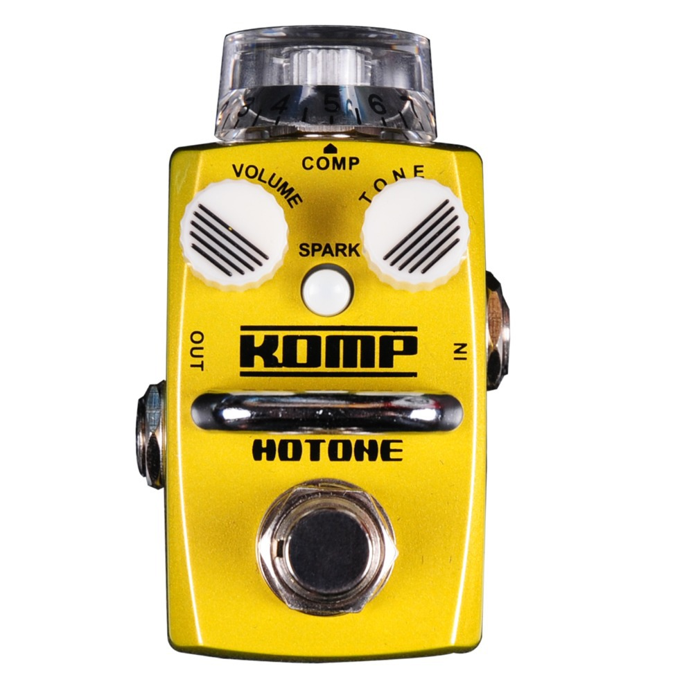 Hotone KOMP / Optical Compressor Electric Guitar Bass Effect Pedal True Bypass / Smallest but Smartest Top Grade Fancier Choice hotone grass classic tube overdrive effect pedal electric guitar bass true bypass top grade fancier choice
