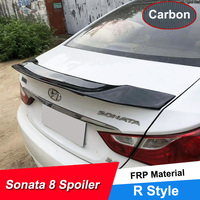 JNCFORURC Rear Trunk Lid Car Spoiler For Hyundai Sonata 8 2011 12 13 R Style Sport Rear Wing Spoiler For Sonata 8 FRP Material