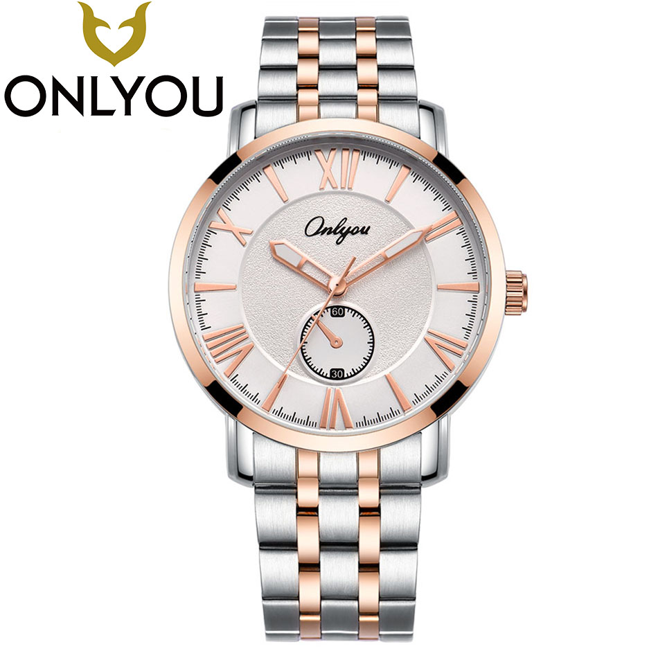 ONLYOU Brand Fashion Business Watch Men waterproof Clock Quartz Wrist Watches Lovers Sport Watch Women Wholesale onlyou luxury brand fashion watch women men business quartz watch stainless steel lovers wristwatches ladies dress watch 6903