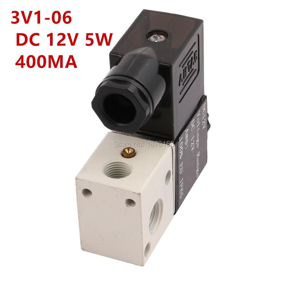 1 PC NOW 3v1-06 DC 12V 400mA 4.8W 1/8PT 2 Position 3 Way Port Direct Drive Type Electric Solenoid Valve for Pneumatic Air Water босоножки ash р 36 eu 35 ru
