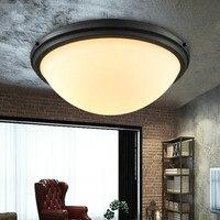 Американский кованый железный потолочный светильник  винтажный светильник для прихожей  модные лампы  Балконная лампа