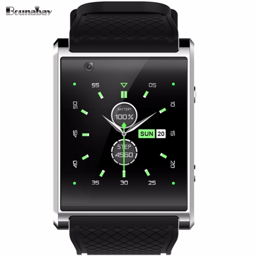 BOUNABAY 4RAM Bluetooth Smart man Multiple Analog Display watch men fitness Multifunction watches android phone gps 3g Clocks smart baby watch q60s детские часы с gps голубые