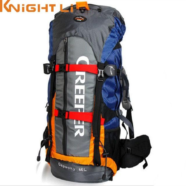 все цены на 60L Professional Waterproof Designe Backpack Travel Rucksack Mountaineering Multifunctional Rucksack Bag Nylon sac a dos Mochila онлайн