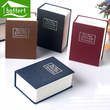 2016 Popular Safety Deposit Cash Box Secret Metal Piggy Bank With Coins Mini Creative English Dictionary Book Money Box