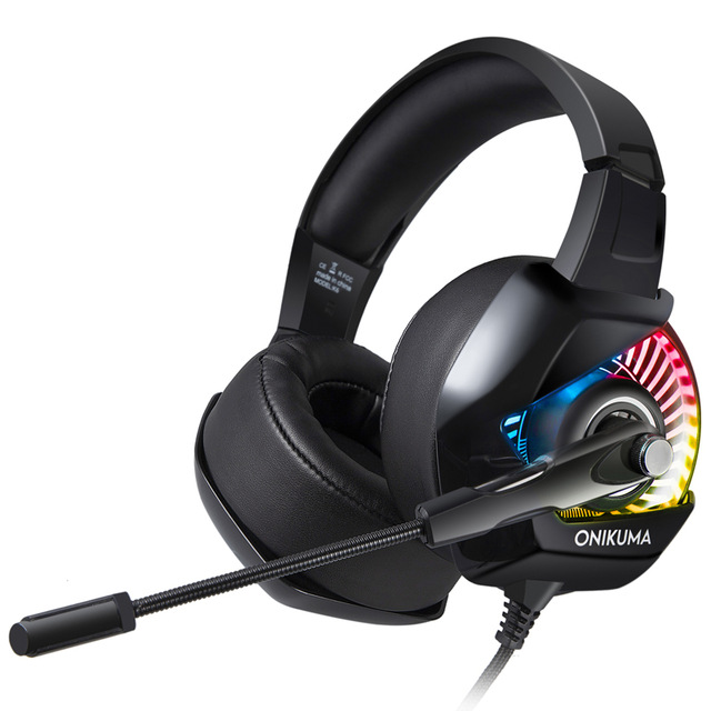 ONIKUMA K6 Gaming Headset with Microphone casque PC Gamer Bass Stereo Headphones for PS4 Gamepad New Xbox One Laptop Computer nubwo n11 ps4 headset casque stereo bass gaming headphones with microphone mic for pc gamer nintendo switch new xbox one phone