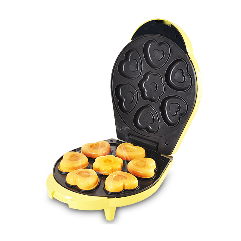 DMWD DIY Cake Maker Heart Shape Egg Cake Mold Dessert Bread Machine Breakfast Pancake Electric Maker Bakeware Non-stick 220V sp99022 round shape silicone diy mold tray for muffin cake dessert chocolate pudding brown
