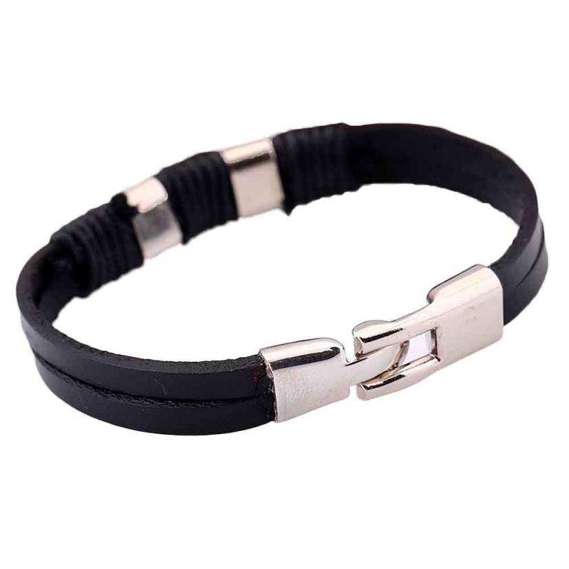 Hot Fashionable Leather Bracelets Unisex Cool Style Bracelets Cowhide Bracelets Wrist Chains Brief Trendy Style Bracelets