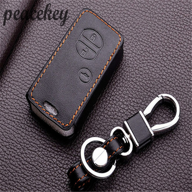 Peacekey Leather Car Key Fob Holder Keychain Hang Cover Sticker
