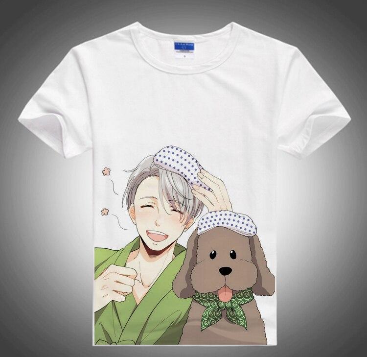 YURI on ICE t shirt Victor Katsuki Yuri Men Women Short Casual t shirt Tee Tops