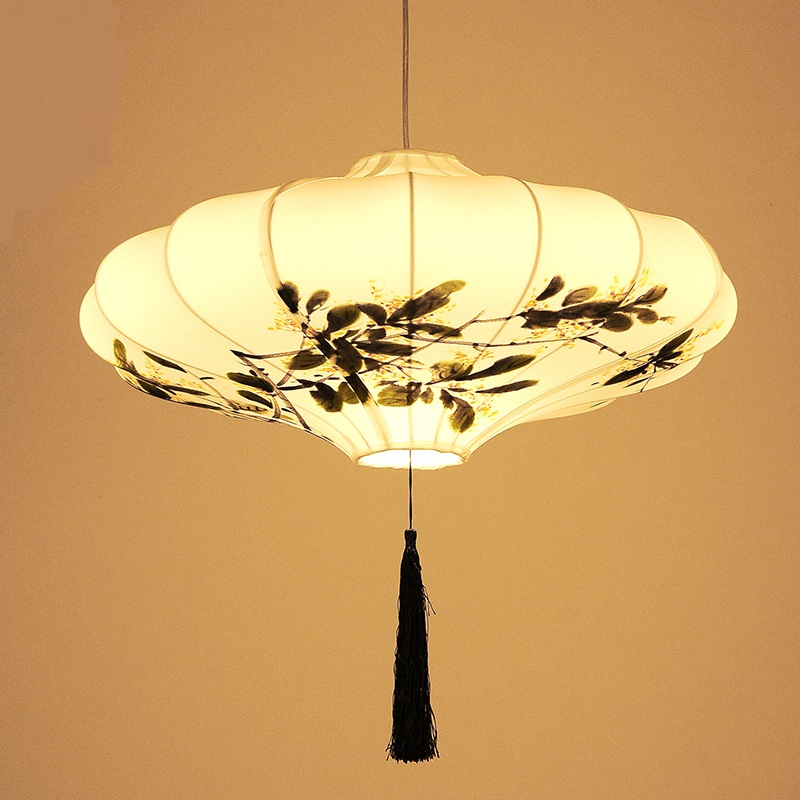 Chinese style fabric Pendant Lights restaurant antique lamps originality classical art hand painting light lamps LU621 ZL495 YM