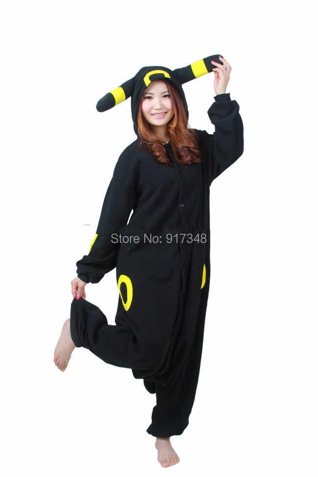 eade29ac95 ... Pokemon Umbreon Cartoon Anime Cosplay Kigurumi Costume for Adult,  Onesie Pajamas Jumpsuit Hoodies for Halloween ...