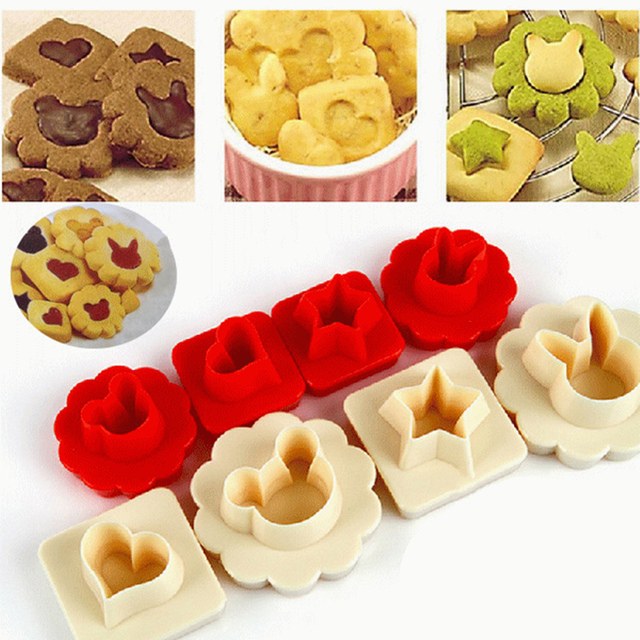 1 Set = 8pcs! Cartoon Duplex Biscuit Cutter Biscuit Mould