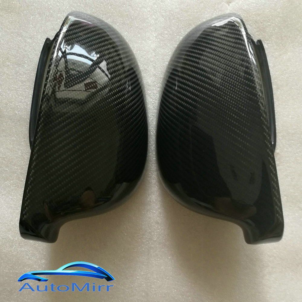 KIBOWEAR For VW Golf Jetta MK5 GTI 5 Passat B6 B5.5 Carbon Fiber Side Wing Mirror Covers Caps Sharan Golf Plus Variant EOS 2007 wing mirror glass indicator for vw golf 5