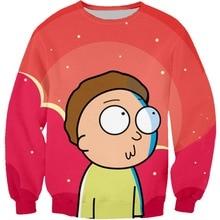 Harajuku Cartoon Rick And Morty 3D Print Boys Sweatshirts Pullover Girls Kids Hoodies Tracksuit Hooded Tops Sportswear Outfit недорого