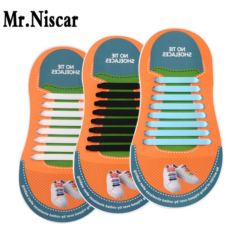 Mr.Niscar New Arrivals Creative Unisex Lazy Shoelaces for Casual Sports Shoes Silicone Laces Strings Adults Elastic Shoe Laces new design round shoelaces 90cm no loose creative flat lazy sports shoelaces v025