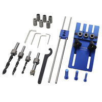 THGS Feng sen Woodworking tool DIY Woodworking Joinery High Precision Dowel Jigs Kit 3 in 1 Drilling locator drilling guide ki