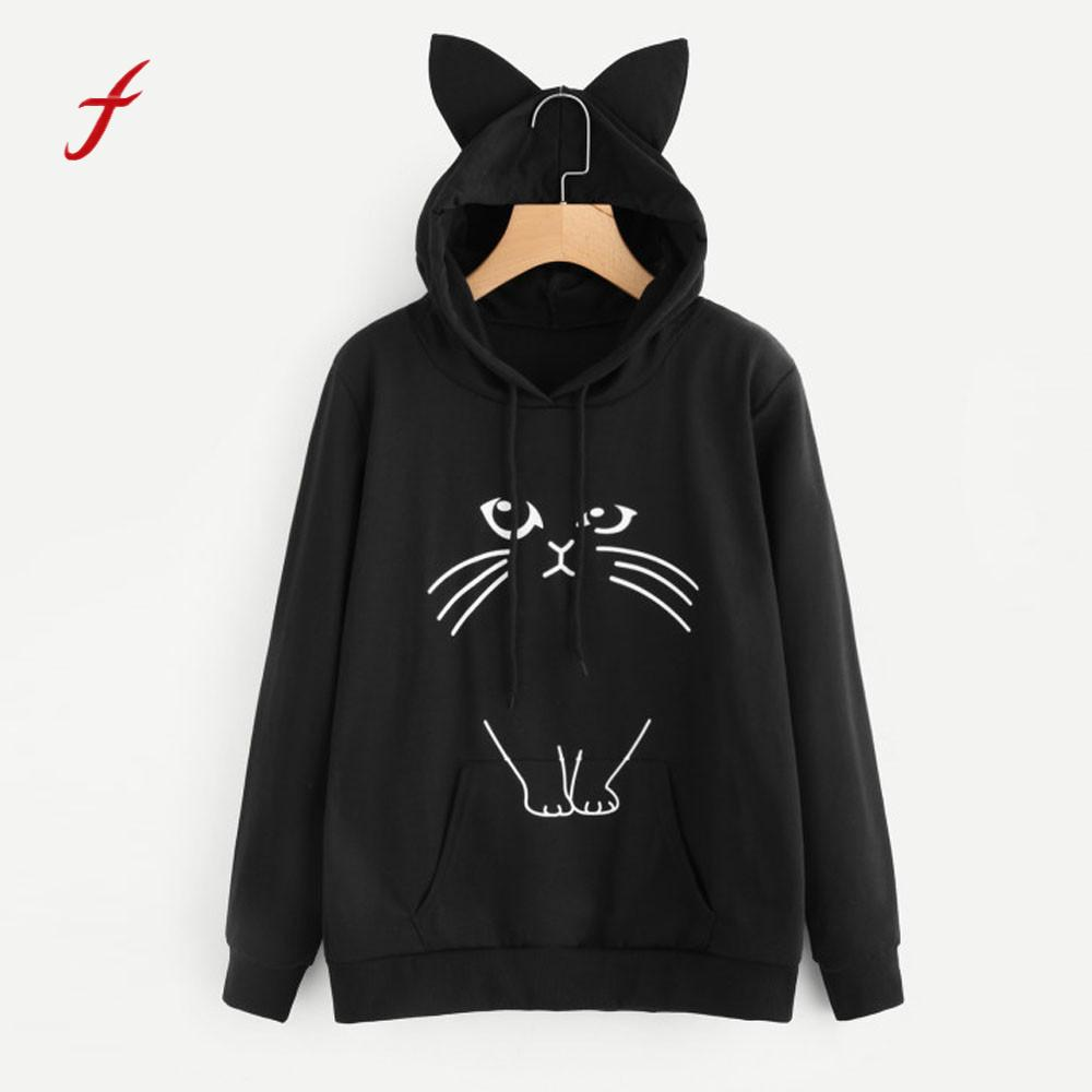 check out db73b 89e76 US $12.62 5% OFF|Feitong Cute Fashion Girls tracksuit hoodies sweatshirts  Womens Graphic Print Designer Sweatshirt Jumper Pullover Tops Blouse-in ...