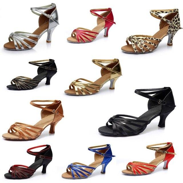 אישה סלסה לטיני ריקוד נעלי טנגו אולם נשפים סלסה ריקוד נעלי ריקוד נעלי ספורט גבוהה העקב 5 cm A02G-1