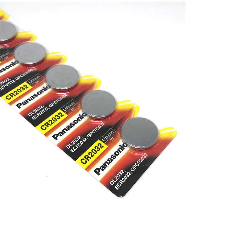 10 sztuk PANASONIC oryginalny brand new baterii cr2032 3v komórka przycisku baterie monety do zegarka komputer zabawka pilot cr 2032