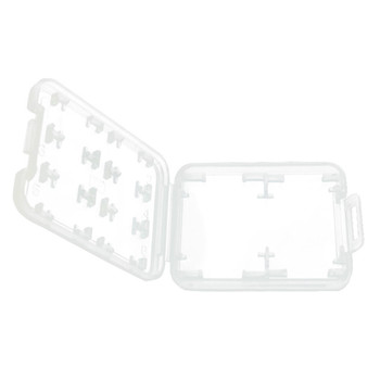 100pcs/lot Plastic Transparent Clear for Micro SD SDHC TF Memory Card Storage Case Box Protector Holder Case 1