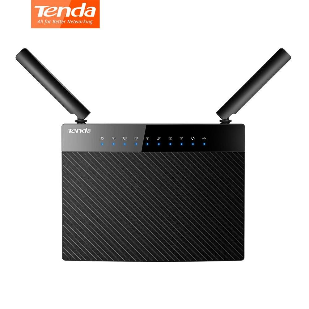 Répéteur de routeur WiFi sans fil Gigabit intelligent Tenda AC9 1200Mbps double bande 802.11AC 2.4G/5GHz installation facile en plusieurs langues