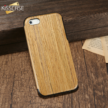KISSCASE Wood Pattern Phone Case For iPhone 5 5S SE Cases Soft TPU Silicone Protective Cover For iPhone 6 6S Plus Coque Capinhas