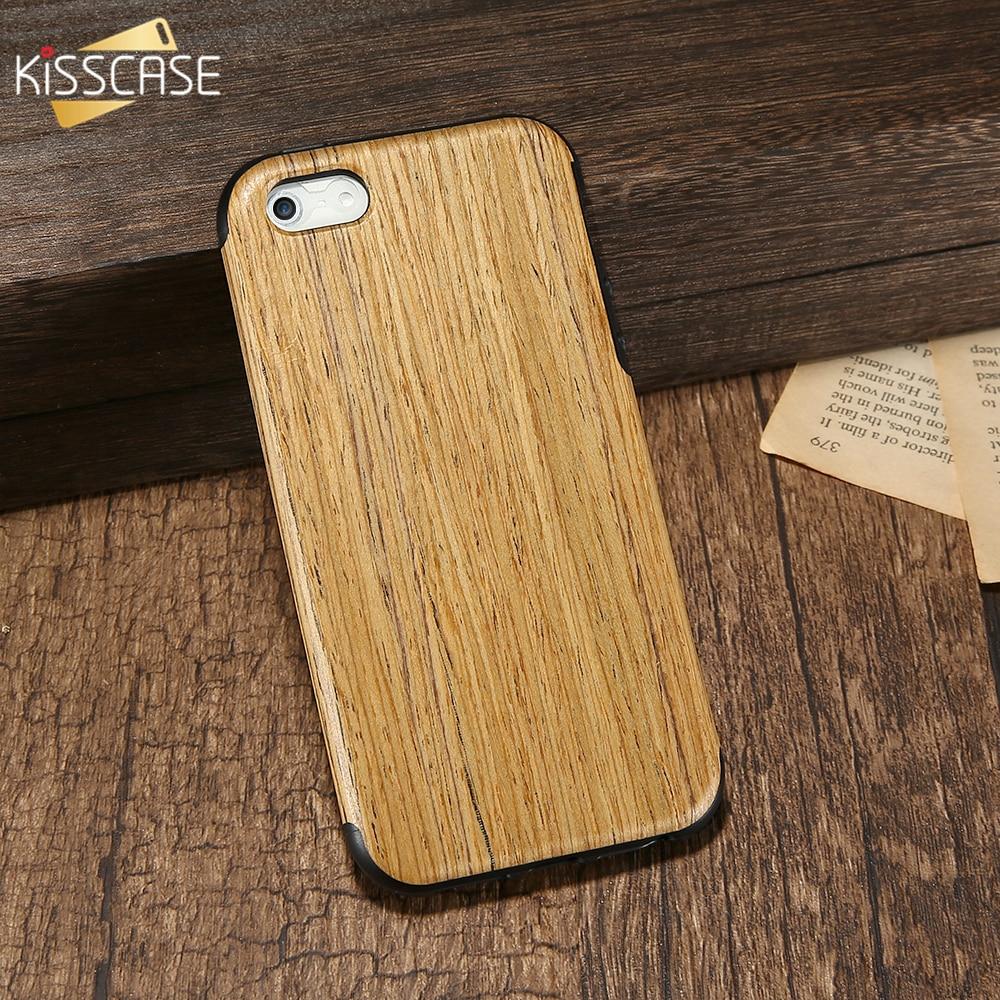 Kisscase рисунок древесины телефона чехол для iPhone 5 5S SE случаях Мягкие TPU силиконовый защитный чехол для iPhone 6 S плюс Coque capinhas