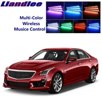 LiandLee Car Glow Interior Floor Decorative Atmosphere Seats Accent Ambient Neon light For Cadillac CTS CTS-V 2002~2019