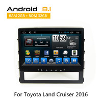 2 Din Head Unit 10 Touch Screen Android 8.1 Multimedia System for Toyota Land Cruiser 2016 GPS Navigation rear view camera