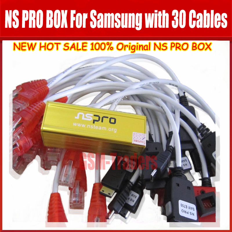 Original The newest NS PRO BOX for samsung with 30 cables unlock& Repair &Flash