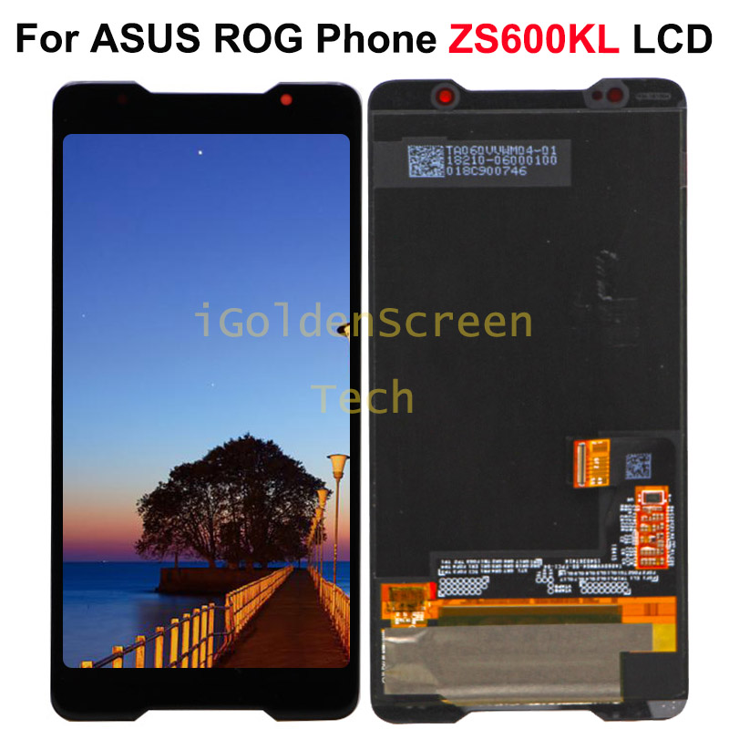 6 0 AMOLED Display For ASUS ROG Phone ZS600KL LCD Display Touch Screen Digitizer Assembly Replace