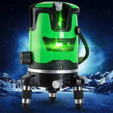 Laser Level 3D Automatic Leveling 5 Line Laser Level 360 Distance Measuring Instrument Automatic Line Level Outdoor Detector цена 2017