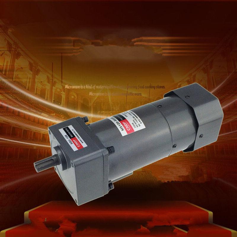 цена на Single phase 110V/115V 220V/230V AC Vertical Gear Motor Governor Adjust the speed 120W M5120 5GU