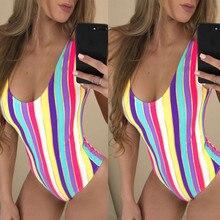 Цельный купальник летний купальный костюм Радуга пляж закрытый купальник монокини купальник сексуальный купальники для женщин купальный костюм