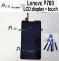 For Lenovo P780 LCD New Display Screen+ Touch Screen Assembly Replacement For lenovo P780 Smartphone In Stock Free Shipping