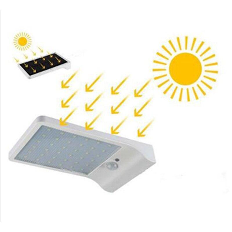 Lámpara Solar movimiento impermeable al aire libre energía Solar luces de pared alumbrado público 36Led luces solares para la decoración del jardín