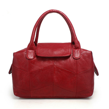 Nesitu High Quality New Black Grey Red Blue Genuine Leather Women's Handbag Female Totes Lady Shoulder Messenger Bags M8913