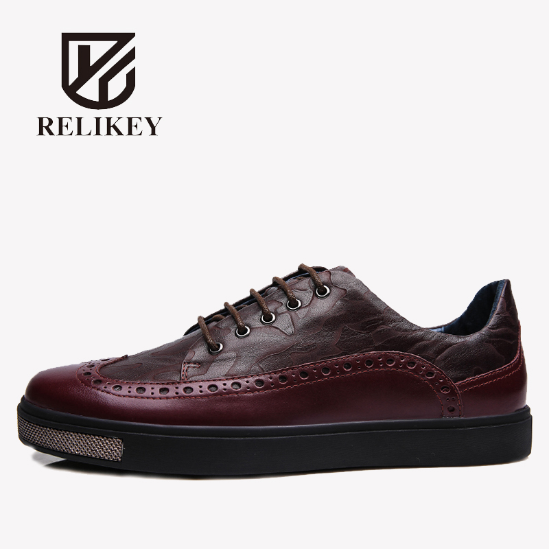 RELIKEY Brand Men Flats Handmade Genuine Cow Leather Breathable Waterproof Male Casual Shoes Spring New Big Size British Shoes 1pc 23x30cm heat transfer machine laser cutting t shirt hot press small heat press machine hp230a