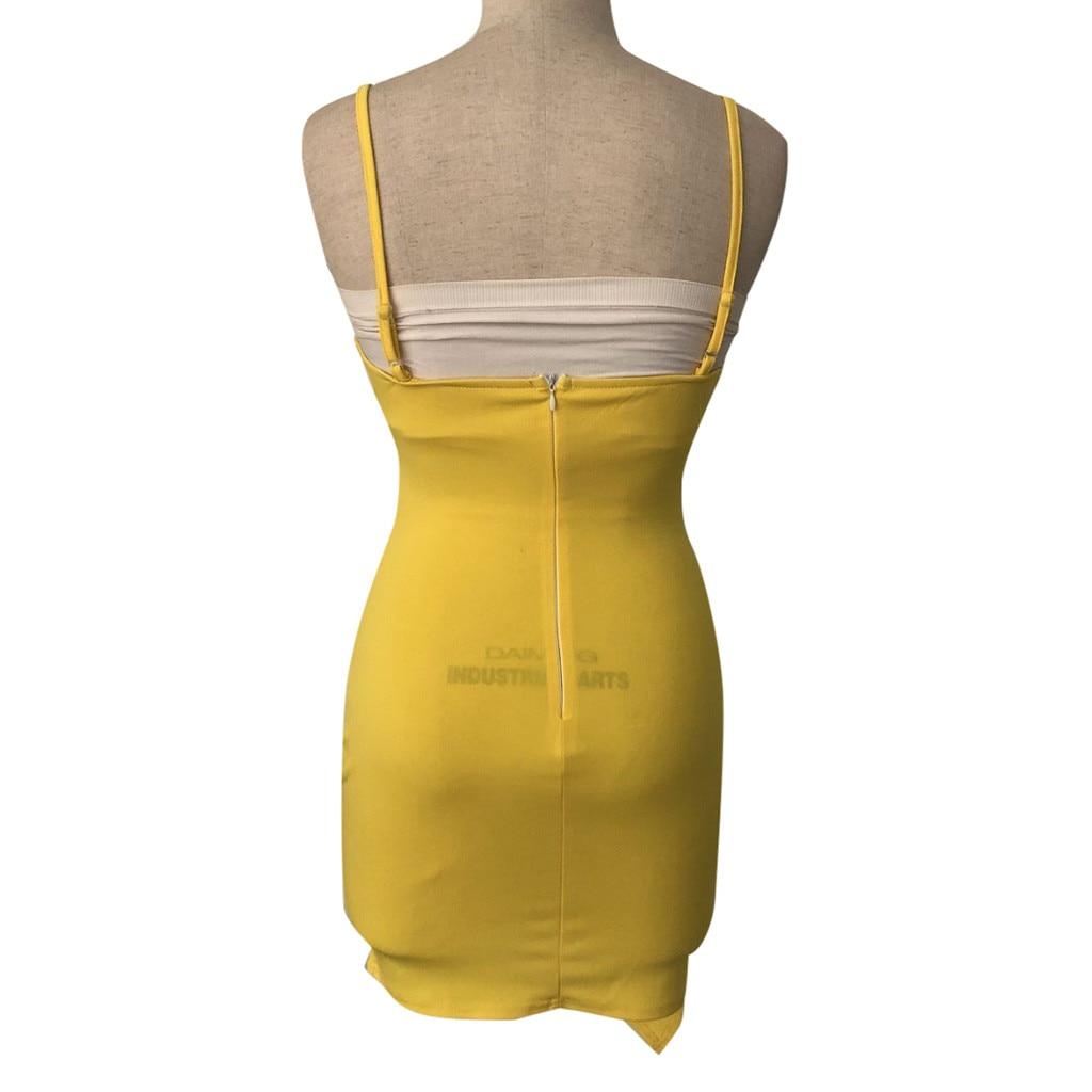 HTB15IiCQzDpK1RjSZFrq6y78VXa7 Pure Color dress women summer 2019  Sleeveless Deep V Tight Fitting  Camisole Buttock casual dress spring sukienka vestidos#G9