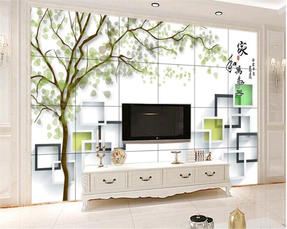 Beibehang moderne simple papier peint intérieur maison et tout arbre arbre 3d tuiles fond peintures murales papel de parede tape