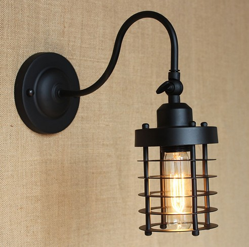 Loft Style Edison Decorative Wall Sconce Mirror Wall Light Fixtures Vintage Industrial Lighting Wall Lamp For Home Arandela