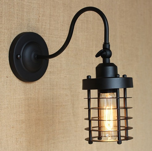 Decorative Wall Lamps loft style edison decorative wall sconce mirror wall light