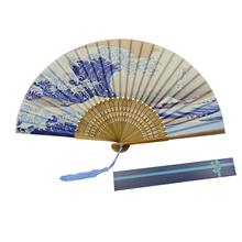 METABLE Folding 1 Fans Handheld Fan Bamboo with Tassel Womens Hollowed Hand Holding for Wall Decoration, Gifts