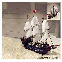 IN MAGAZZINO H & HXY NUOVO 22001 Pirate Ship Imperial navi da guerra Costruzione di Modello Kit LEPIN Blocco Briks Giocattoli Regalo 1717 pz Compatible10210