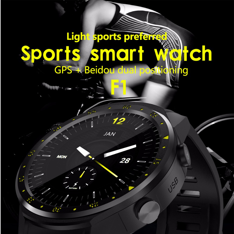 цена smart watch F1 MTK2503 with Camera Altimeter Support Heart Rate Sim Card Smartwatch Wristwatch 1.3 inch for IOS Android Phone онлайн в 2017 году